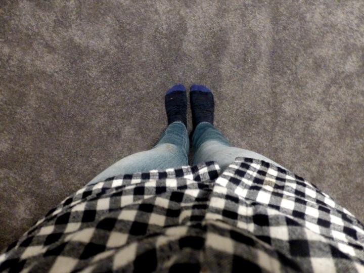 standing in our newly carpet, BIG bedroom--eek!