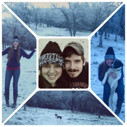 The FIRST snow at our new home!