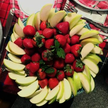 strawberries in their fruit dip? FABULOUS!