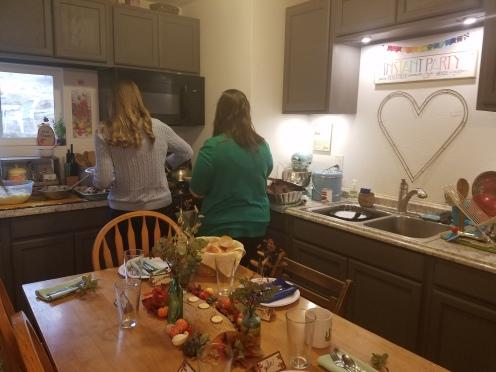 Small house = Thanksgiving Buffet!