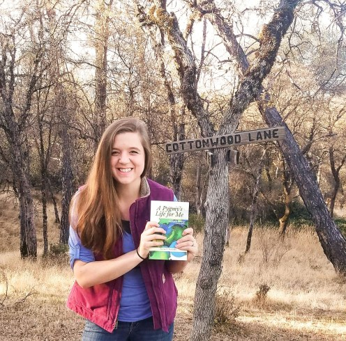 holding my first book!
